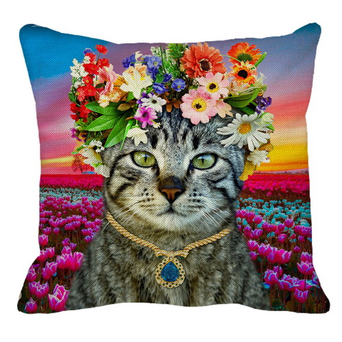 Flower Cat on Tulips_resize