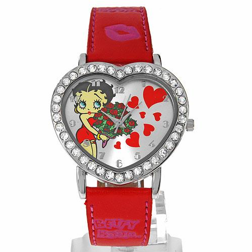 Betty Boop With Hearts & Roses