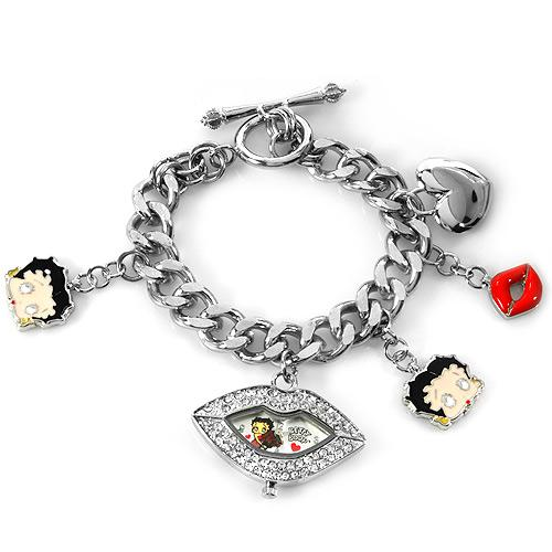 Betty Boop Crystal Lips Watch