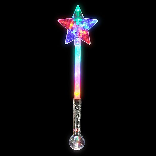 Large Star Wand with Disco Ball