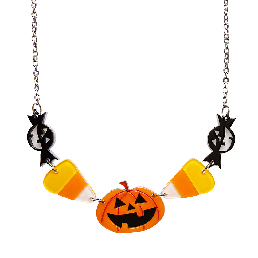 No Tricks Halloween Necklace