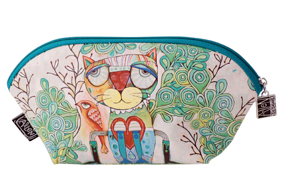 Small Cat Cosmetic Bag