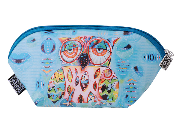 Small Owl Cosmetic Bag
